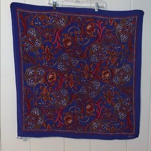 Vtg  Signature Echo blue & red large silk scarf 🧣